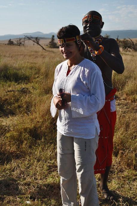 Roberta Martins no Quênia