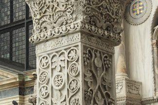 Detalhes na arquitetura de Veneza