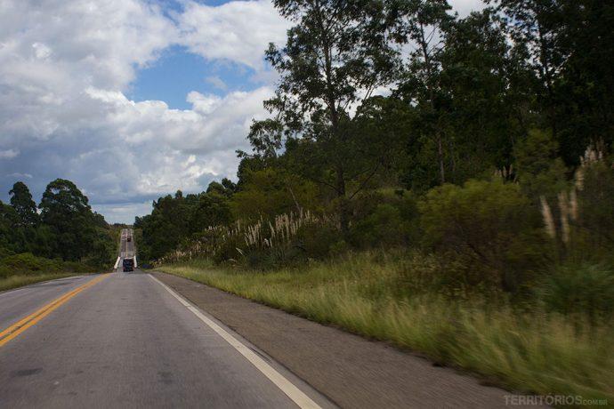 BR 293 entre Candiota e Bagé