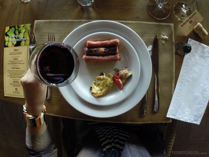Almoço harmonizado na Vinicola Guatambu