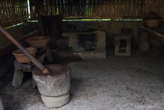 Área para torrar e moer artesanalmente os grãos