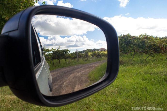 Paisagem nas estradas da Rota Pampa