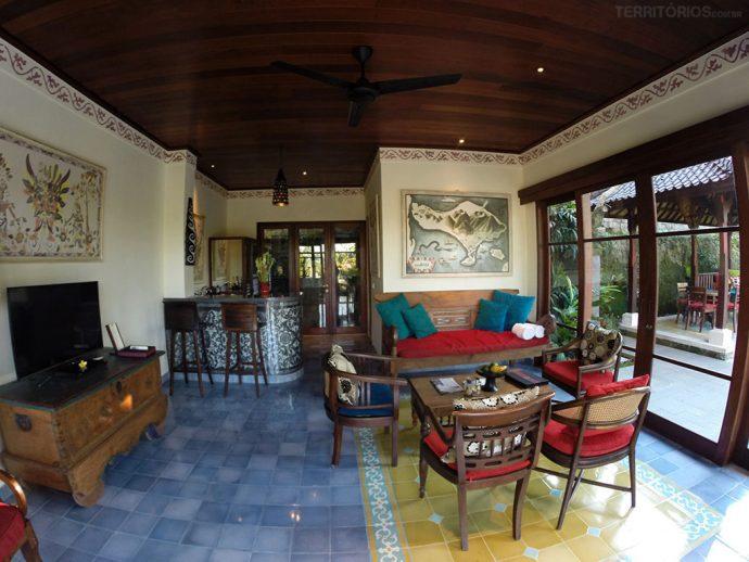 Sala de estar com cozinha