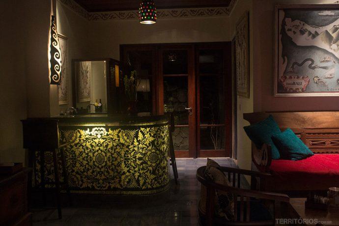 Adorei a iluminação da bancada da cozinha na suite presidencial