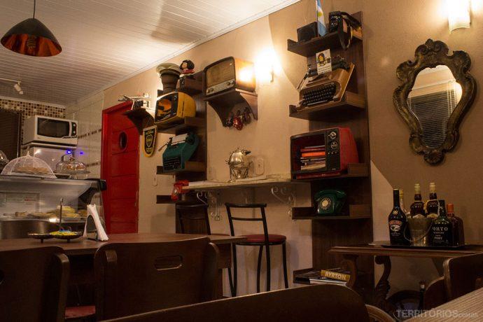 Interior do Café Caminito