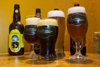Cervejas artesanais no Restaurante Urbanu's
