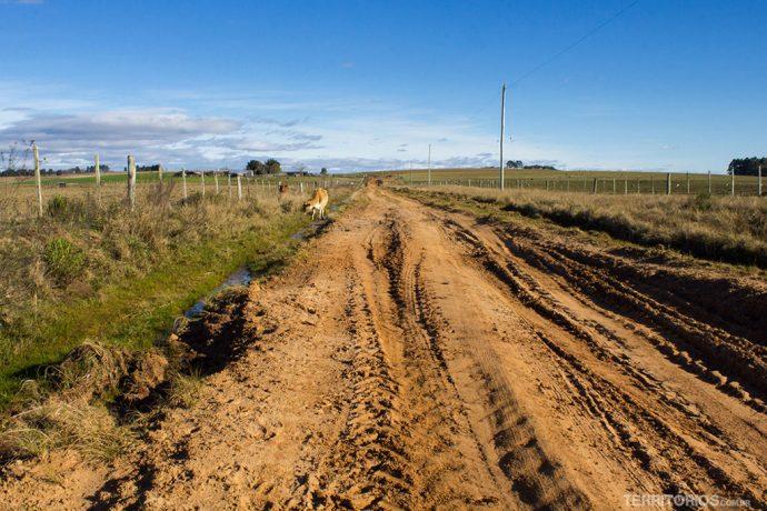 Um dos trechos complicados da estrada de terra