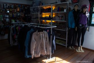 Loja de equipamentos de aventura completa dentro do Minas Outdoor Sports