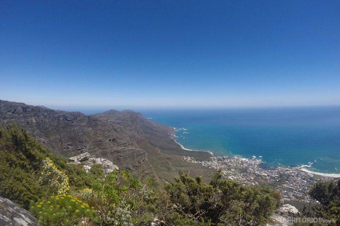 Vista da Table Mountain sem previsão de chuva