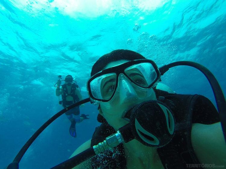 mergulhar com cilindro