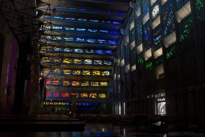 Interior da igreja El Rosario
