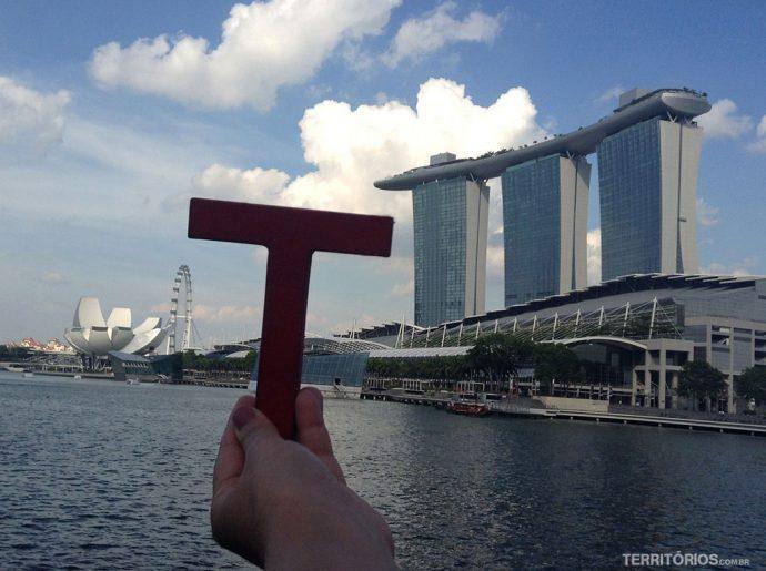 Na Marina Bay de Singapura