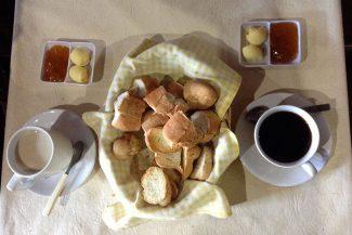 Café da manhã no hostel