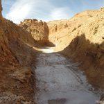Rio seco no meio da Cordilheira de Sal