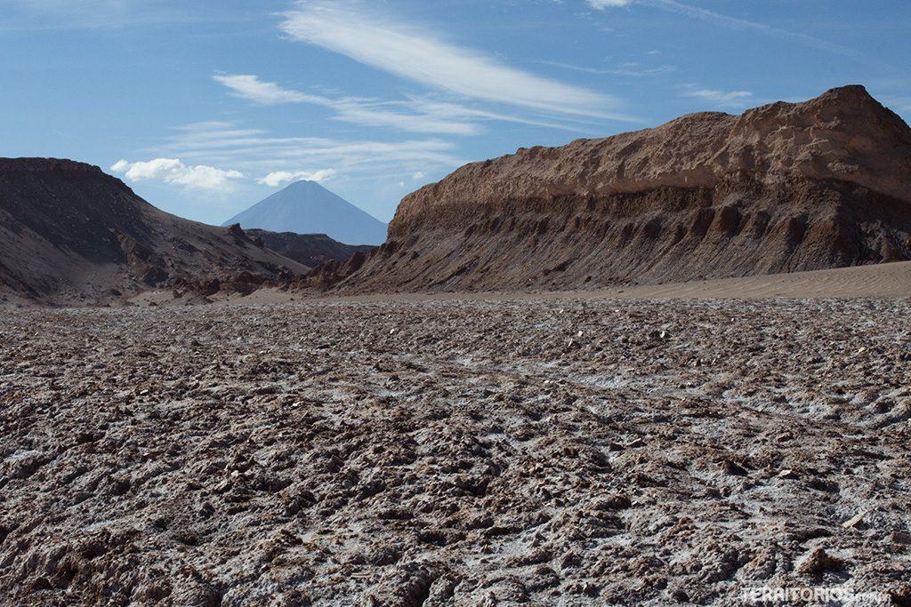 Vulcão Licancabur visto no final da trilh