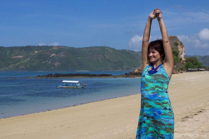 Curtindo Mandalika Beach sem pressa