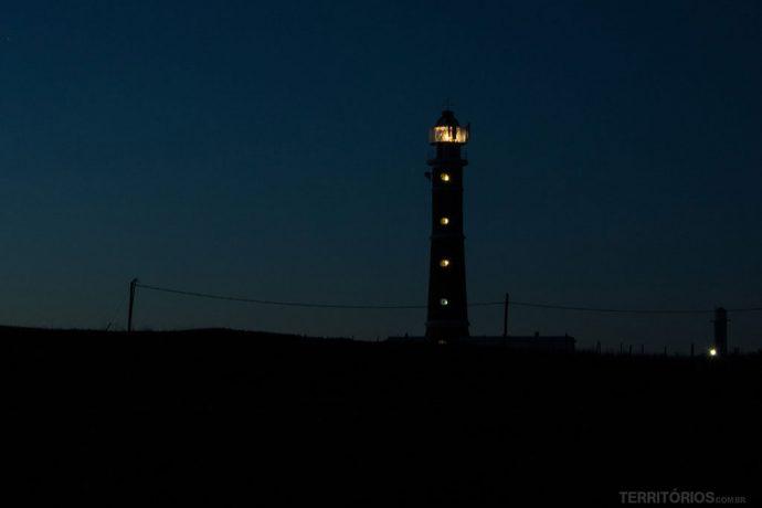 Farol de Cabo Polonio iluminando a escuridão, Rocha - Uruguay