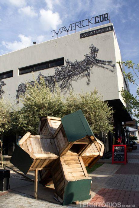 Arte urbana nas quadras de Maboneng