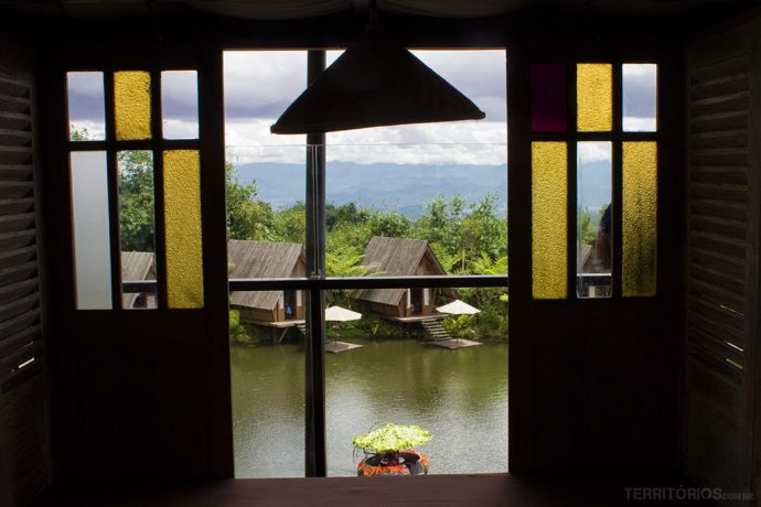 Almoço com vista no Dusun Bambu