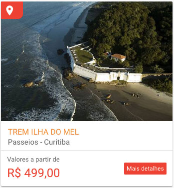 Tour Ilha do Mel de trem
