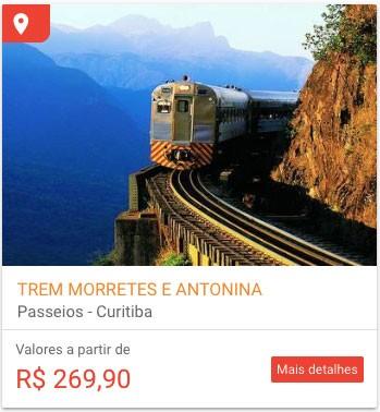 Trem para Morretes e Antonina