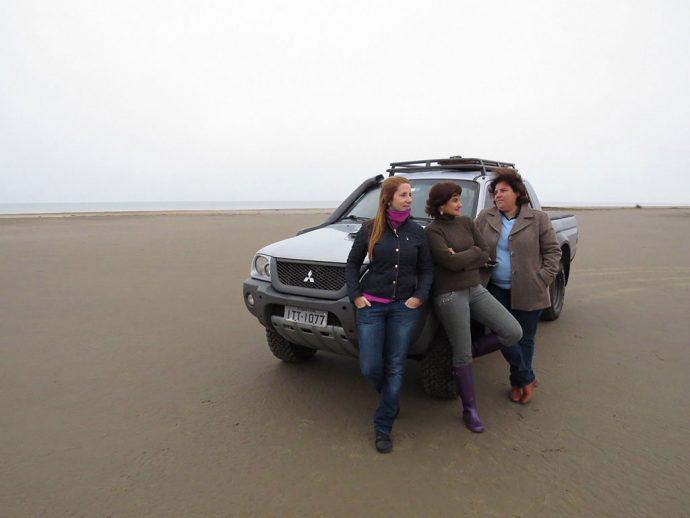 Durante a viagem de carro entre amigas para descobrir os atrativos atuais do Caminho Rota Farroupilha