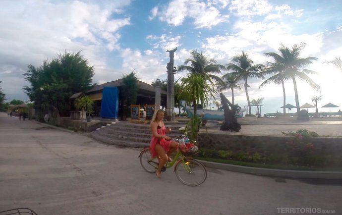 Bicicleta é o transporte oficial em Gili T