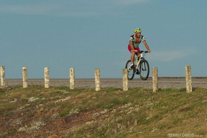 Ciclista no Uruguai