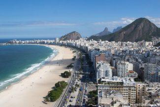 Vista para Copacabana do terraço do Hotel Hilton