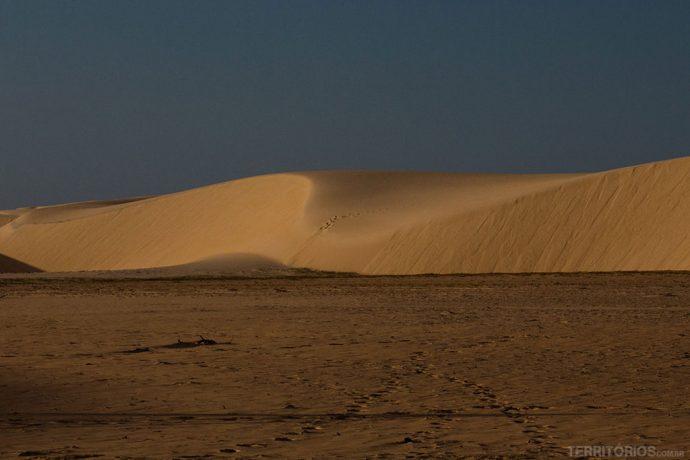 O vento cria belas formas nas dunas