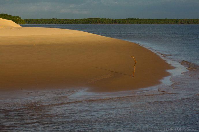 Praia no Delta do Parnaíba