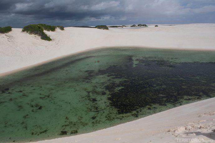 Vista para a segunda lagoa - Lagoa dos Toyoteiros