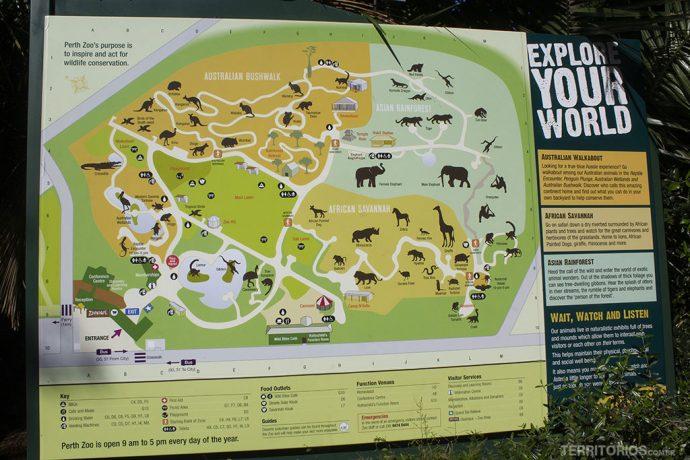 Mapa do Perth Zoo