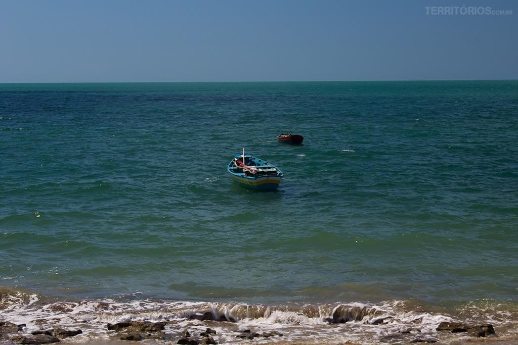 Calmaria e vento no litoral do Piauí