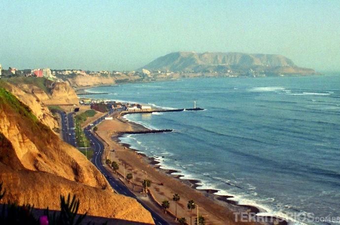 O Oceano Pacífico em Miraflores