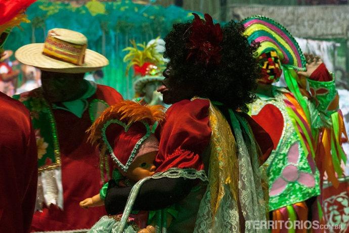 A personagem Catirina do Boi Garantido, Parintins, Amazonas - Brasil