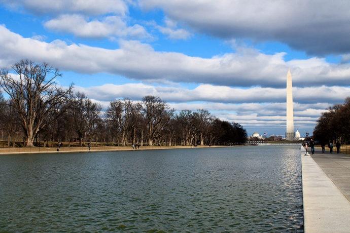 Obelisco e Capitólio mais ao fundo