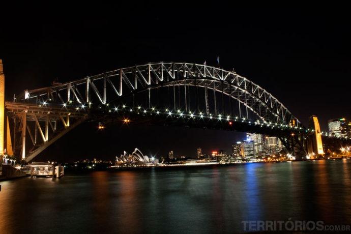 Postais de Sydney à noite