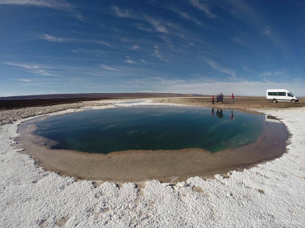 Lagunas Escondidas para se surpreender no Atacama