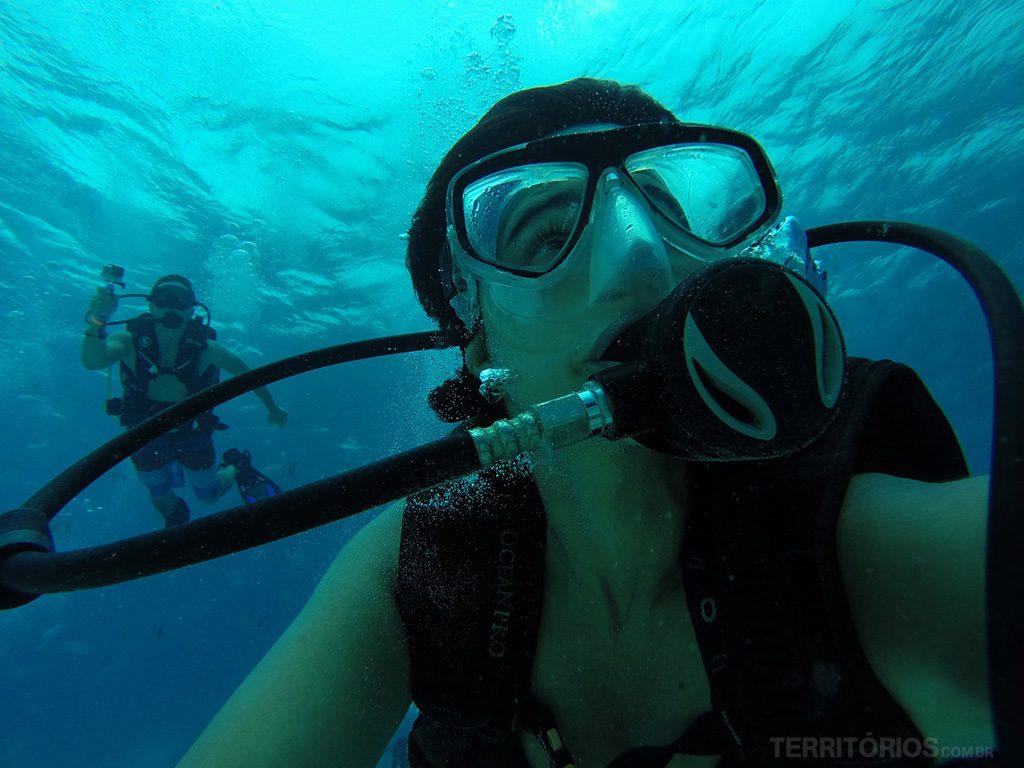 Meu primeiro mergulho com cilindro foi em San Andrés