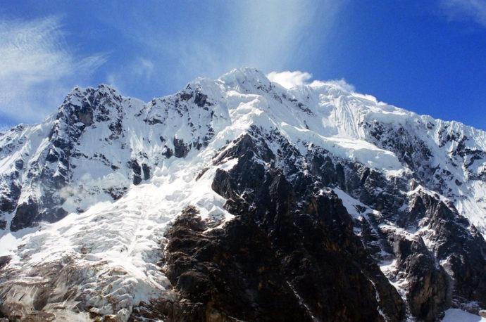 Pertinho do topo da montanha Salkantay
