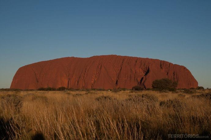 Uluru é dentro do parque Patrimônio Mundial da UNESCO