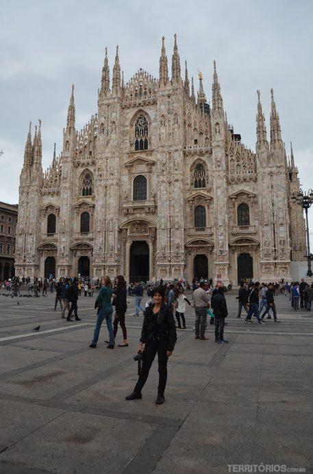 Eu na Piazza Duomo