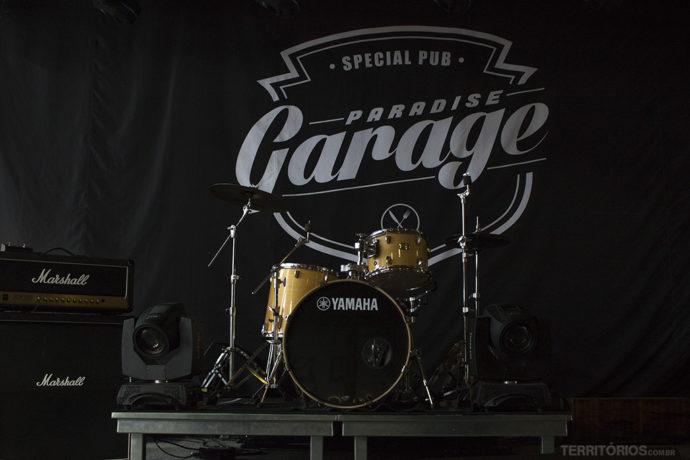 Palco do Garage Paradise para a noite em Teresópolis