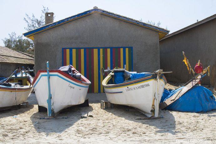 Doca de pescadores na Praia do Cardoso