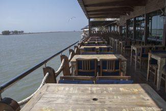 Vista para a lagoa no Restaurante do Geraldo