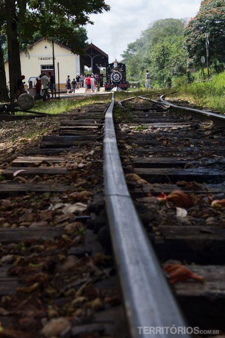 Os trilhos em Tiradentes
