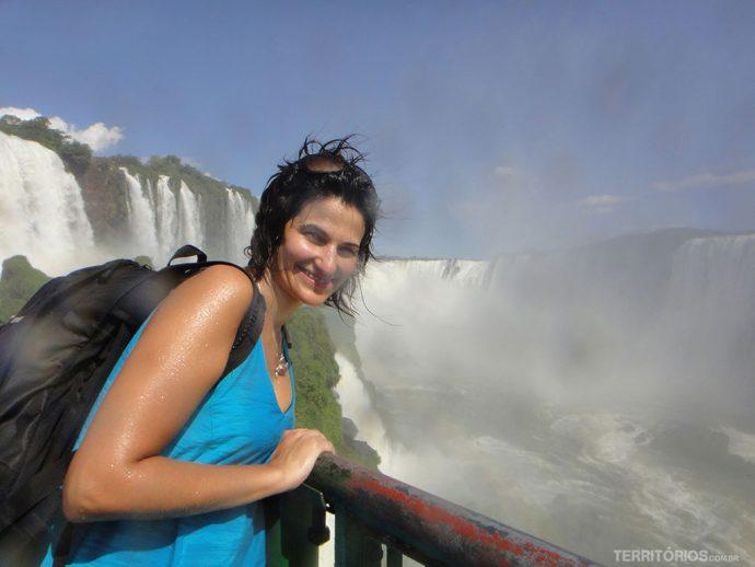 Roberta renova as energias nas Cataratas do Iguaçu