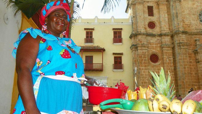 Uma das muitas palenqueiras de Cartagena