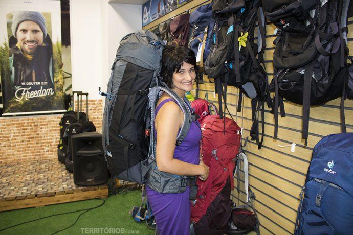 Equipamentos para viagem: mochilas